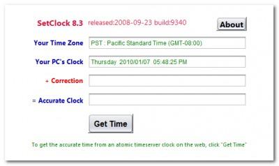 SetClock 8.6 screenshot