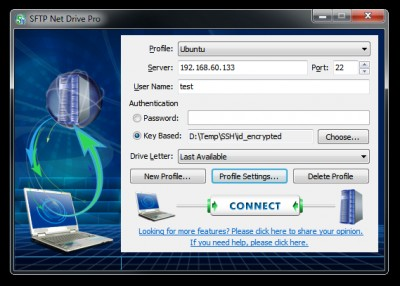 SFTP Net Drive 3.0 screenshot
