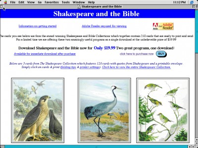 Shakespeare and the Bible 1.0 screenshot
