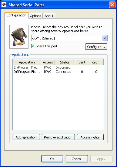 Shared Serial Ports 1.1 screenshot