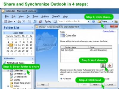 ShareO for Outlook 3.61 screenshot