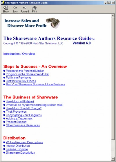 Shareware Authors Resource Guide 6.2.0.000 screenshot