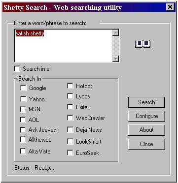 Shetty Search 3.8 screenshot