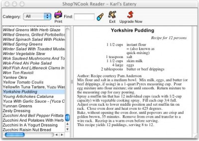 Shop'NCook Cookbook Reader 3.4 screenshot