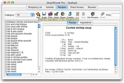 Shop'NCook Recipe Costing Pro 3.4.1 screenshot