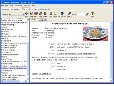 Shop N Cook Home Cooking for Mac 3.4.3 screenshot