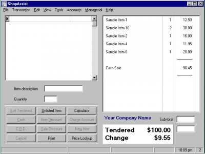 ShopAssist Point Of Sale System 5.10 screenshot