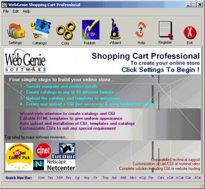 Shopping Cart Professional 6.08 screenshot