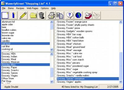 Shopping List 4.1 screenshot