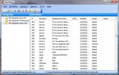 ShortKeys 3.5.1.1 screenshot