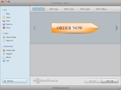 ShoutDesigner Button Creator 1.0 screenshot