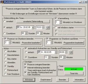 Shutdown4U 3.6 screenshot