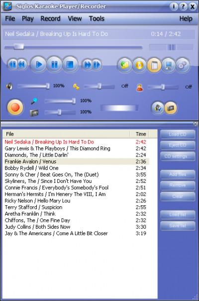 Siglos Karaoke Player/Recorder 1.2.6 screenshot