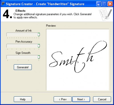 Signature Creator 1.12 screenshot
