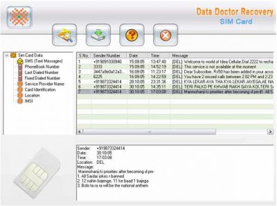 Sim Card Forensic Data Restoration Tool 3.0.1.5 screenshot