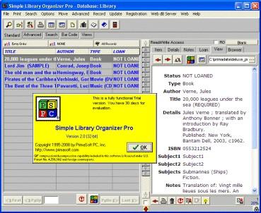 Simple Library Organizer Pro 3.2b screenshot