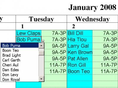 Simple Scheduling Calendar 1.24 screenshot