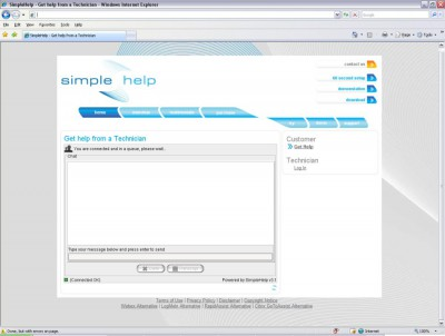 SimpleHelp 3.6 screenshot