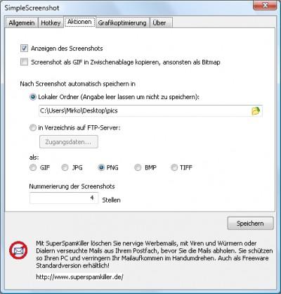 SimpleScreenshot 1.40 screenshot