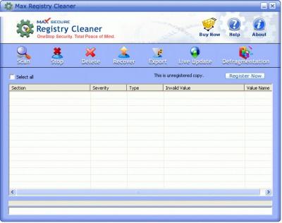 SIS REGISTRY CLEAN 2011.1105 screenshot