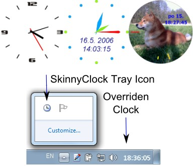 Skinny Clock 1.17 screenshot