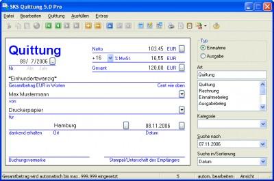 SKS Quittung Pro 4.5.6 screenshot