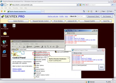 SkyFex Remote Assistant 1.0.2.112 screenshot