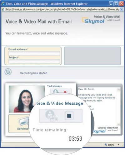 Skymol Voice Mail, Video Mail Software 1.0 screenshot