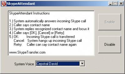 SkypeAttendant 1.0 screenshot