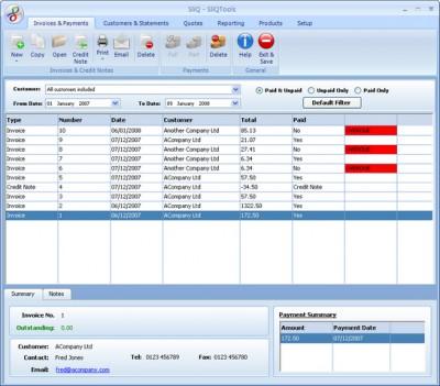 SliQ Invoicing and Quoting 1.6.3 screenshot