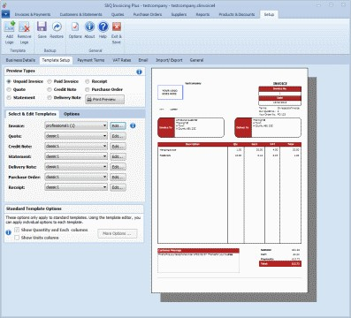 SliQ Invoicing Plus 5.6.1.0 screenshot