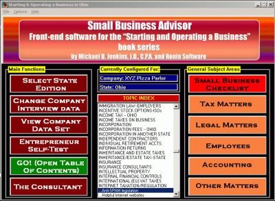 Small Business Advisor 2014.Q2 screenshot