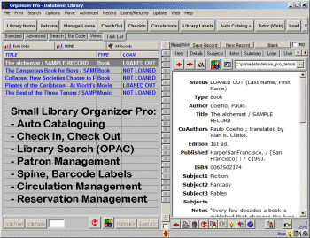 Small Library Organizer Pro 3.2b screenshot