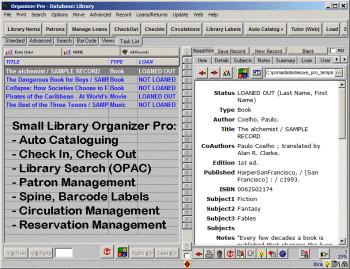 Small Library Organizer Pro 3.2b screenshot