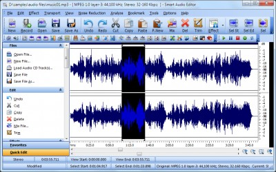 Smart Audio Editor 8.5.5 screenshot