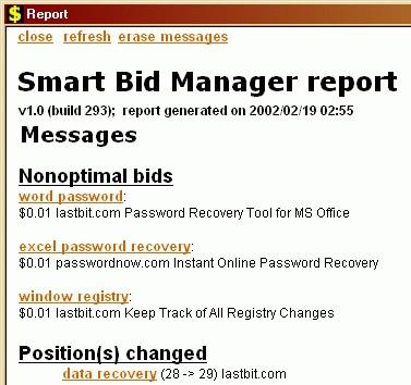 Smart Bid Manager 1.0 screenshot