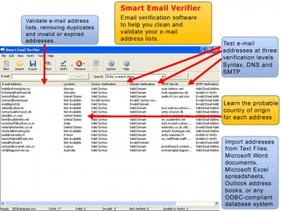 Smart Email Verifier 3.51 screenshot