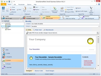 SmartSerialMail 7.3 screenshot