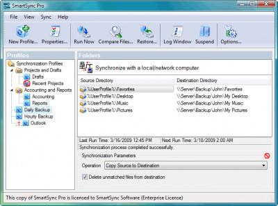 SmartSync Pro 2.11 screenshot