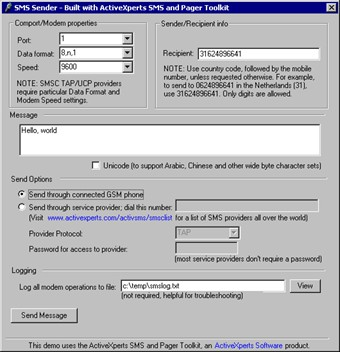 SMS and Pager Toolkit 4.1 screenshot