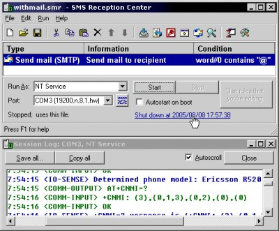 SMS Reception Center 1.95 screenshot