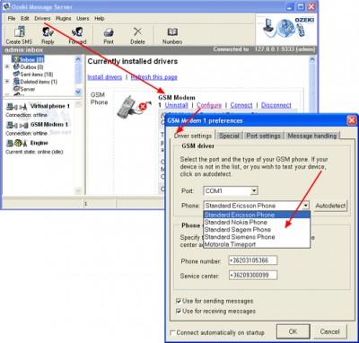 SMS Server 6.1.3.5 screenshot
