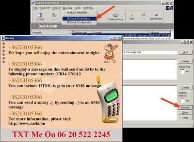 SMS Wall 5.2 screenshot