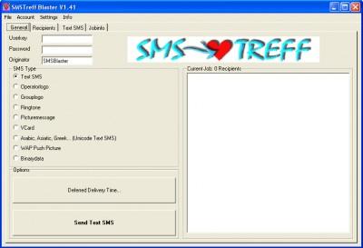 SMSTreff Blaster 3.41 screenshot