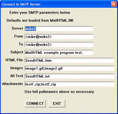 SMTP/POP3/IMAP Email Lib for dBase 8.0 screenshot