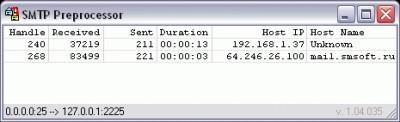 SMTP Preprocessor 1.11 screenshot