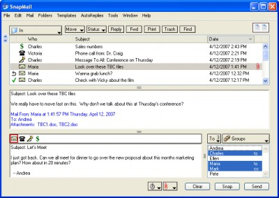 SnapMail 5.2.1 screenshot