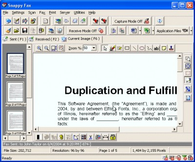 Snappy Fax 2000 3.64.5.1 screenshot