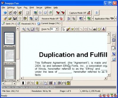 Snappy Fax 2000 3.64.5.1 screenshot