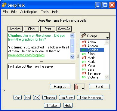 SnapTalk 4.1 Win XP screenshot